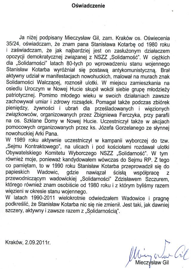 Stanisław Kotarba Wychodzi Z Cienia