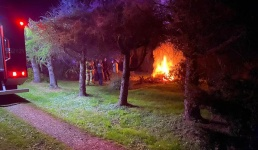 Ognisko postawiło strażaków na nogi